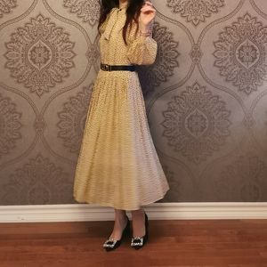 Sold* New celine Polka Dot silk dress